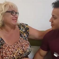 La Señora Fina, con 63 años y su primer cubano. ¡Club Maduras en estado puro!