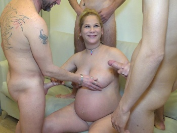 VERY PREGNANT. Aurora can't fuck anymore but has a cock feast